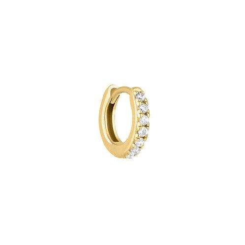 Gold Vermeil 10mm Sara Huggies Hoop Earring
