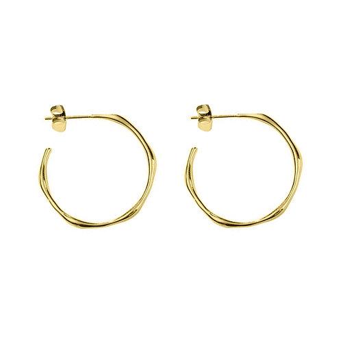 Yellow Gold Vermeil Beach Hoop Earrings