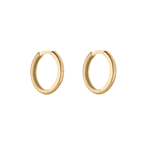 9ct Yellow Gold 11mm Thin Huggie Earrings