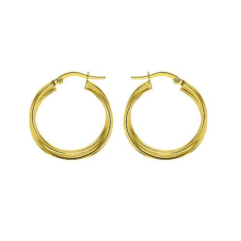 Gold Vermeil 20mm Twist Hoop Earrings
