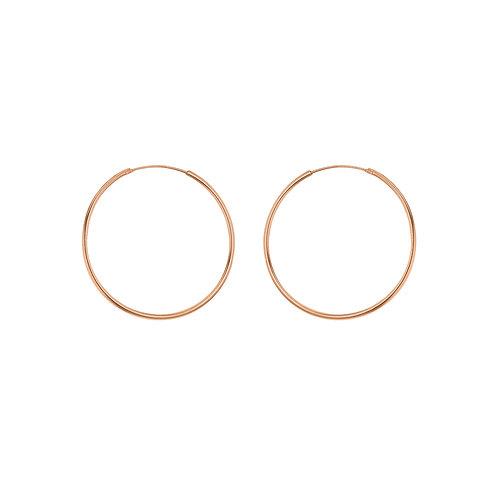 Rose Gold Vermeil 30mm Classic Hoop Earrings