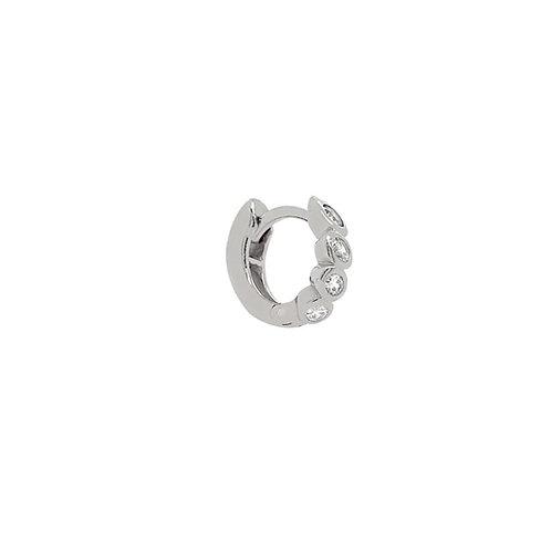 Sterling Silver 10mm Hana Huggies Hoop Earring