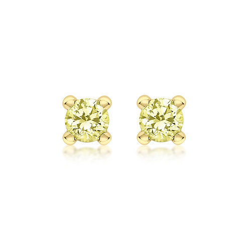 9ct Yellow Gold 4mm August Birthstone Stud Earrings