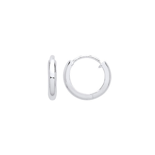 Sterling Silver 13mm Everyday Hoops