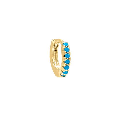 Gold Vermeil 10mm Elva Huggies Hoop Earring