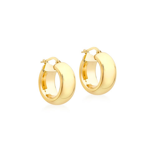 18ct Yellow Gold Luxury 18mm / 8mm Hoops