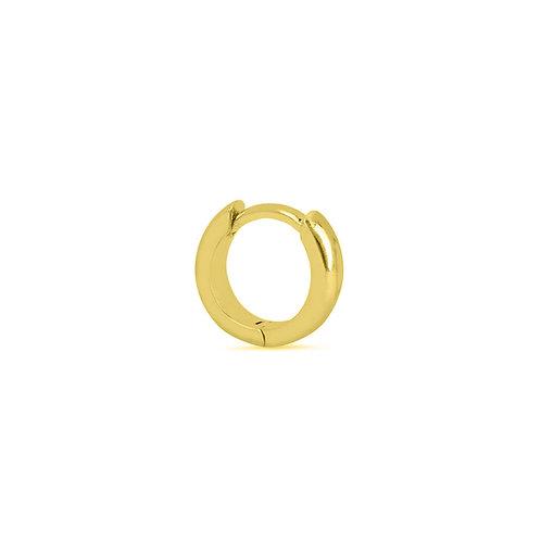 Gold Vermeil 9mm Clicker Hoop Earring