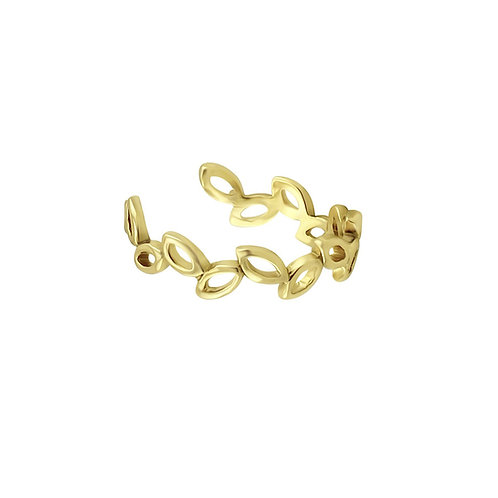 Gold Vermeil Willow 13mm Ear Cuff (Conch Area)