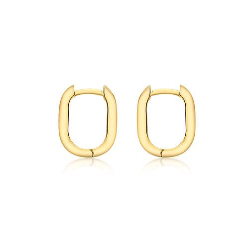 9ct Yellow Gold Rectangular Luxury Huggies