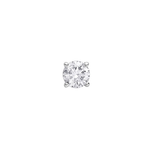White Gold 3.2mm Diamond Stud Earring