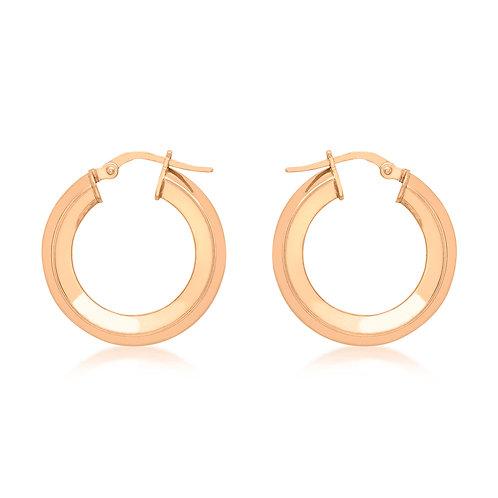 9ct Rose Gold 22mm Hoop Earrings