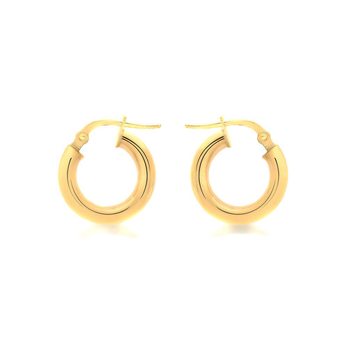 Yellow Gold Vermeil 15mm Round Creole Earrings