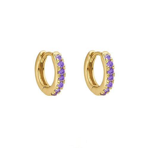 Gold Vermeil Mini Stone Set Indi Huggies