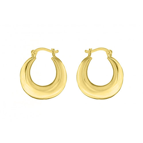 Yellow Gold Vermeil 19mm Graduated Creole