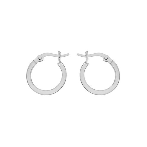 Sterling Silver 15mm Square Tube Hoops