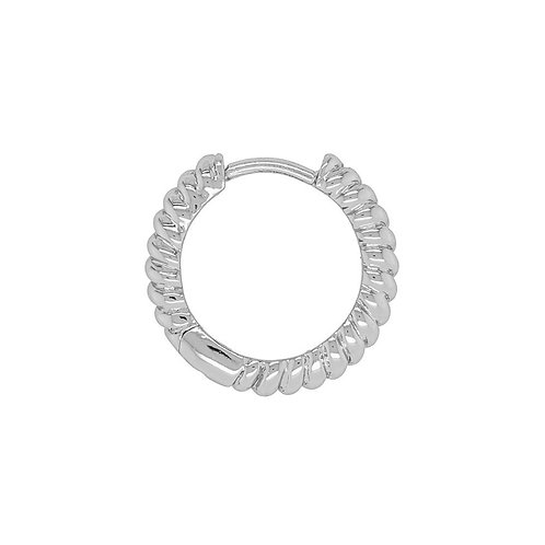 Sterling Silver 13.5mm Twisted Huggie (Conch Piercing)