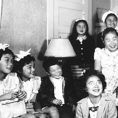 Lorraine's Sunday School children in Breed Street home
