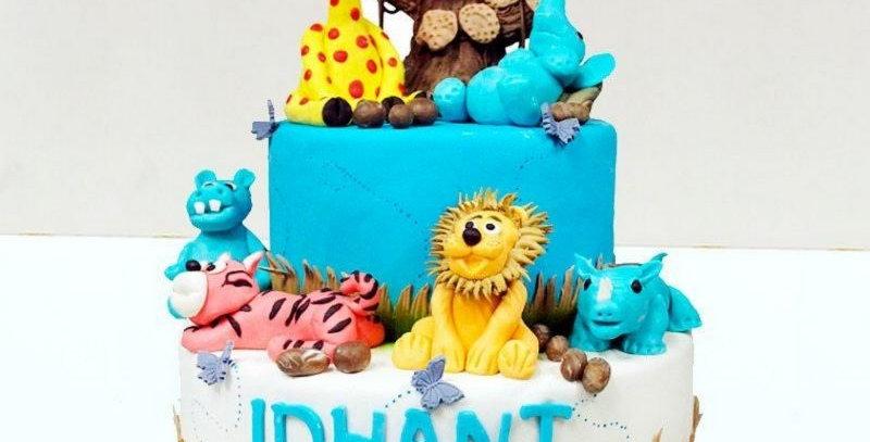 Jungle Theme Based Cake
