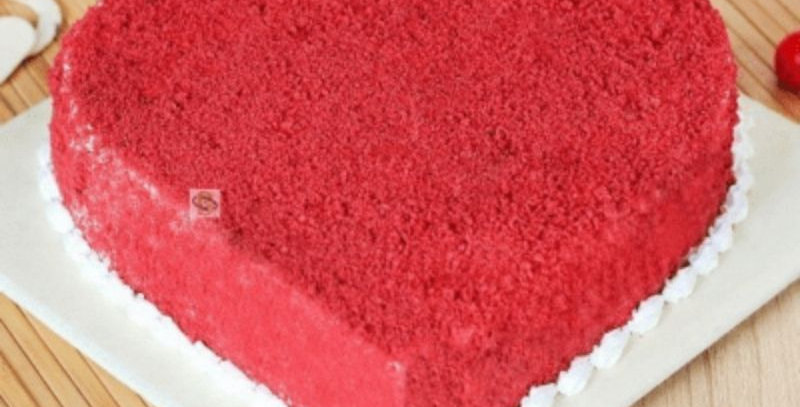 Heart Shape Flavour Red Velvet Cake