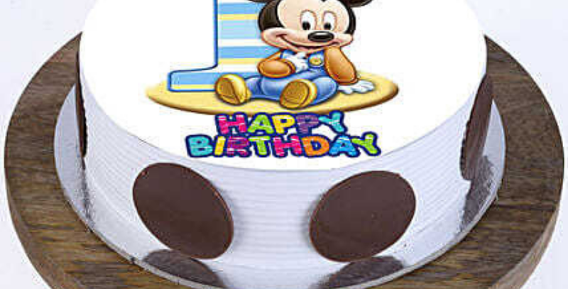 Mickey Mouse Cartoon Photo Cake