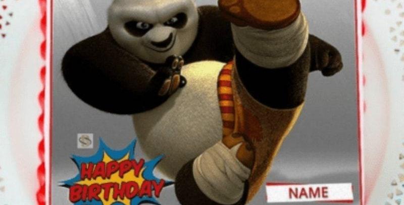 Kung Fu Panda Photo Cake (Fondant)