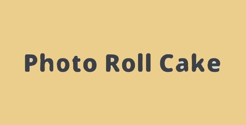 Photo Roll Cake