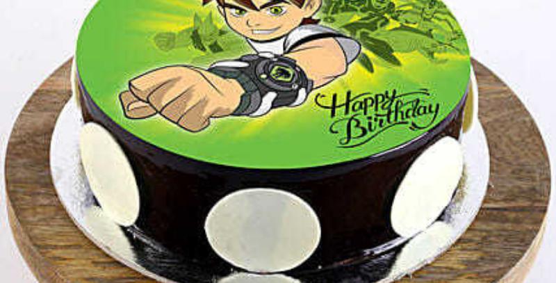 Ben 10 Cartoon Photo Cake