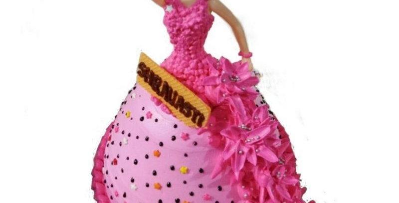 Doll Design Cake (Fondant)