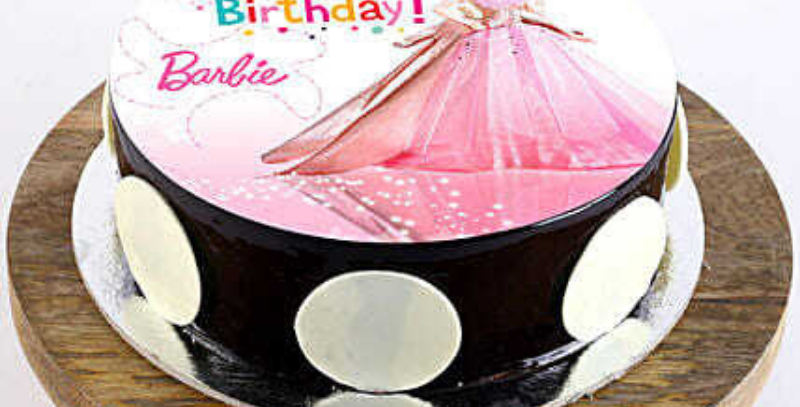 Barbie Cartoon Photo Cake