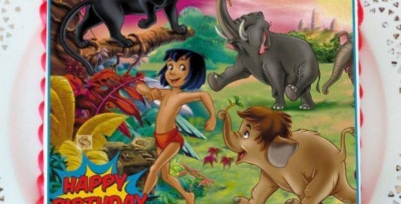 Jungle Theme Photo Cake (Fondant)