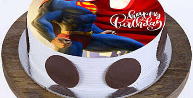 Super Man Photo Cake