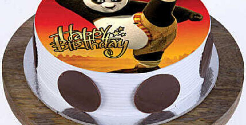 Kung Fu Panda Photo Cake