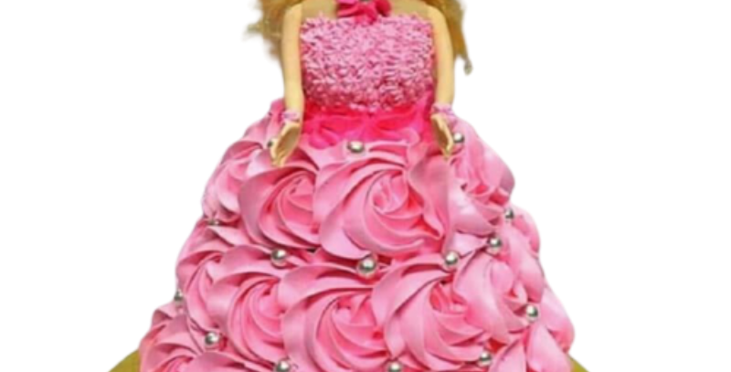 Barbie Doll Cartoon Cake