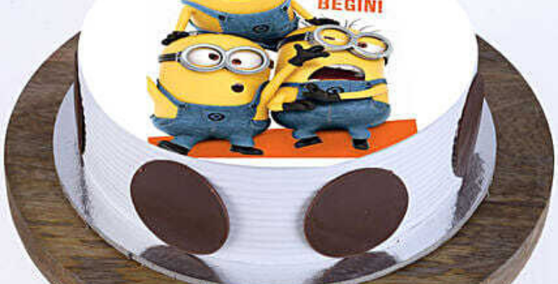 Minion's Cartoon Photo Cake
