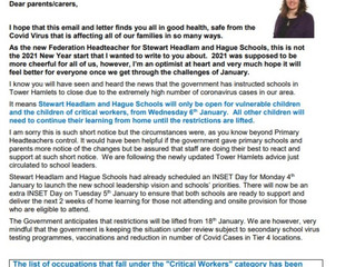 Partial School Closure: January 2021