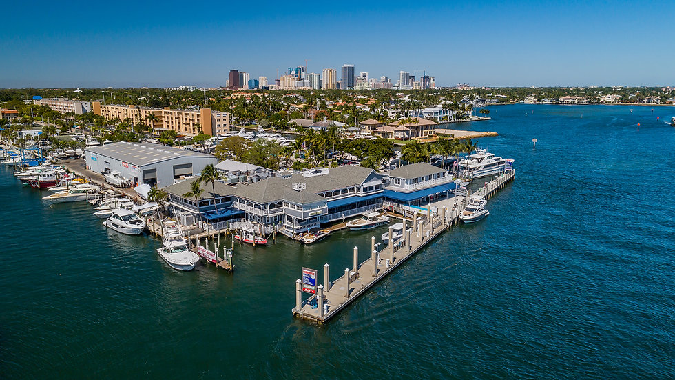 Aerial View of Lauderdale Marina Fuel Dock on the Intracoastal Waterway
