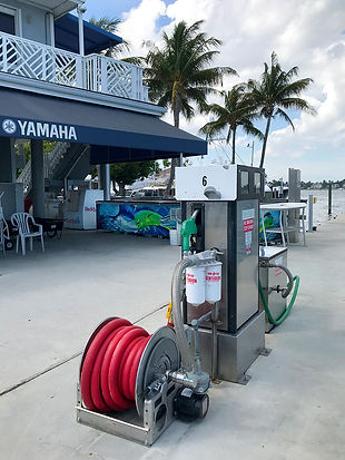High Speed Fuel Pump on the Lauderdale Marina Fuel Dock