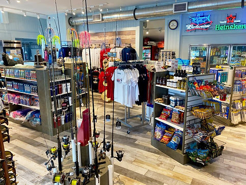 This is another Interior View of the Dock Store showing various merchandise