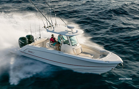 This is a 280 Outrage boat by Boston Whaler.