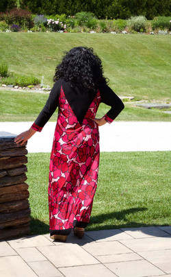 TTT Black/Red Maxi Dress Back