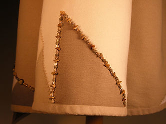 Serger technique with embellishment