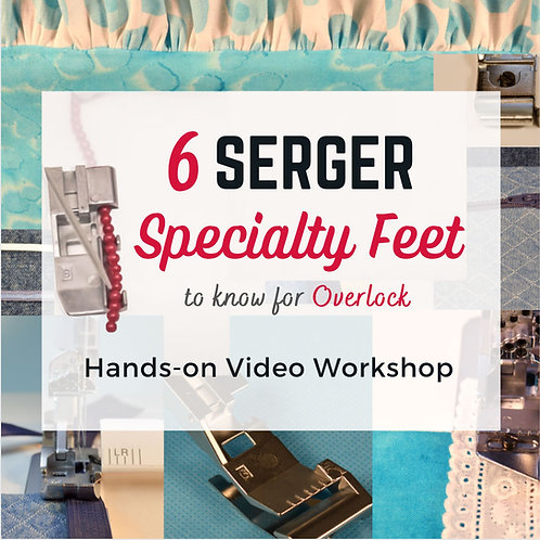 Serger Specialty Feet & Attachments