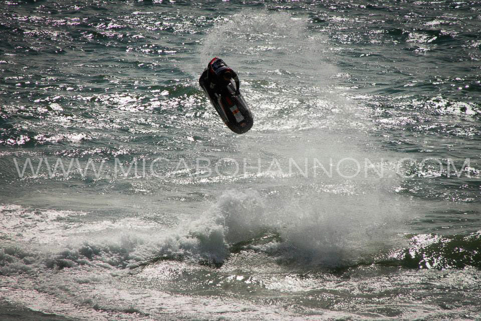 jet ski doing a trick
