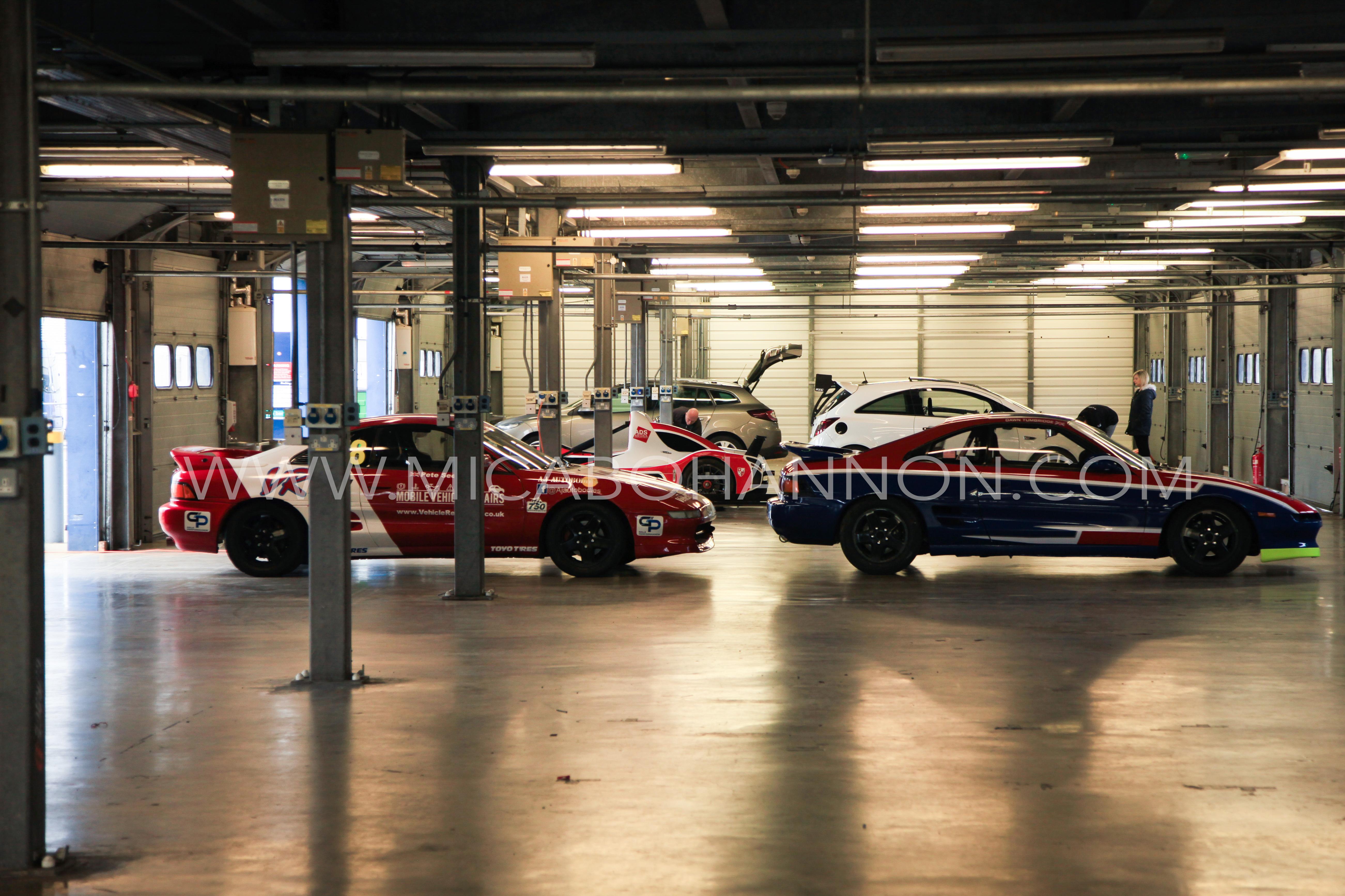 inside pit garage