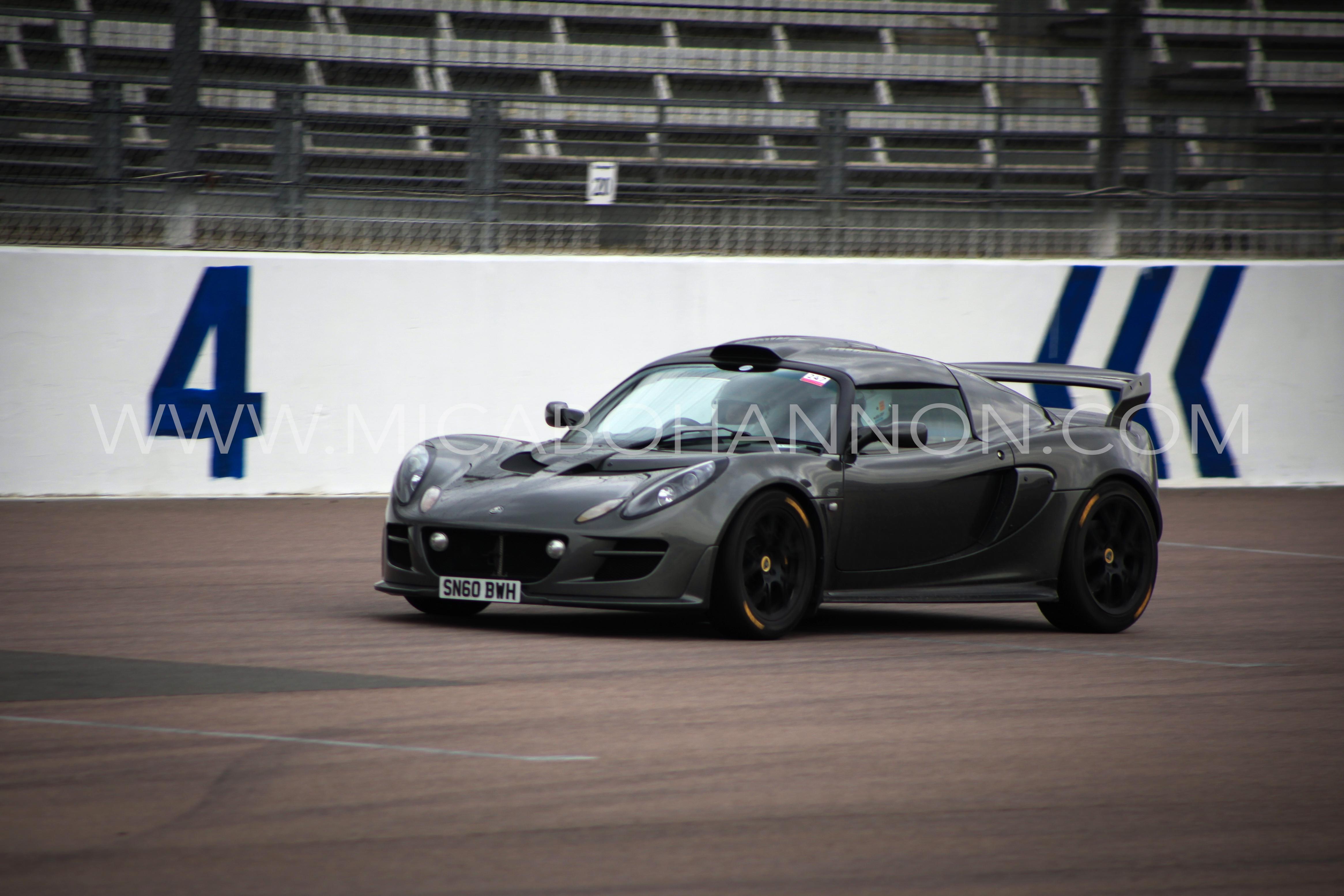 black car racing