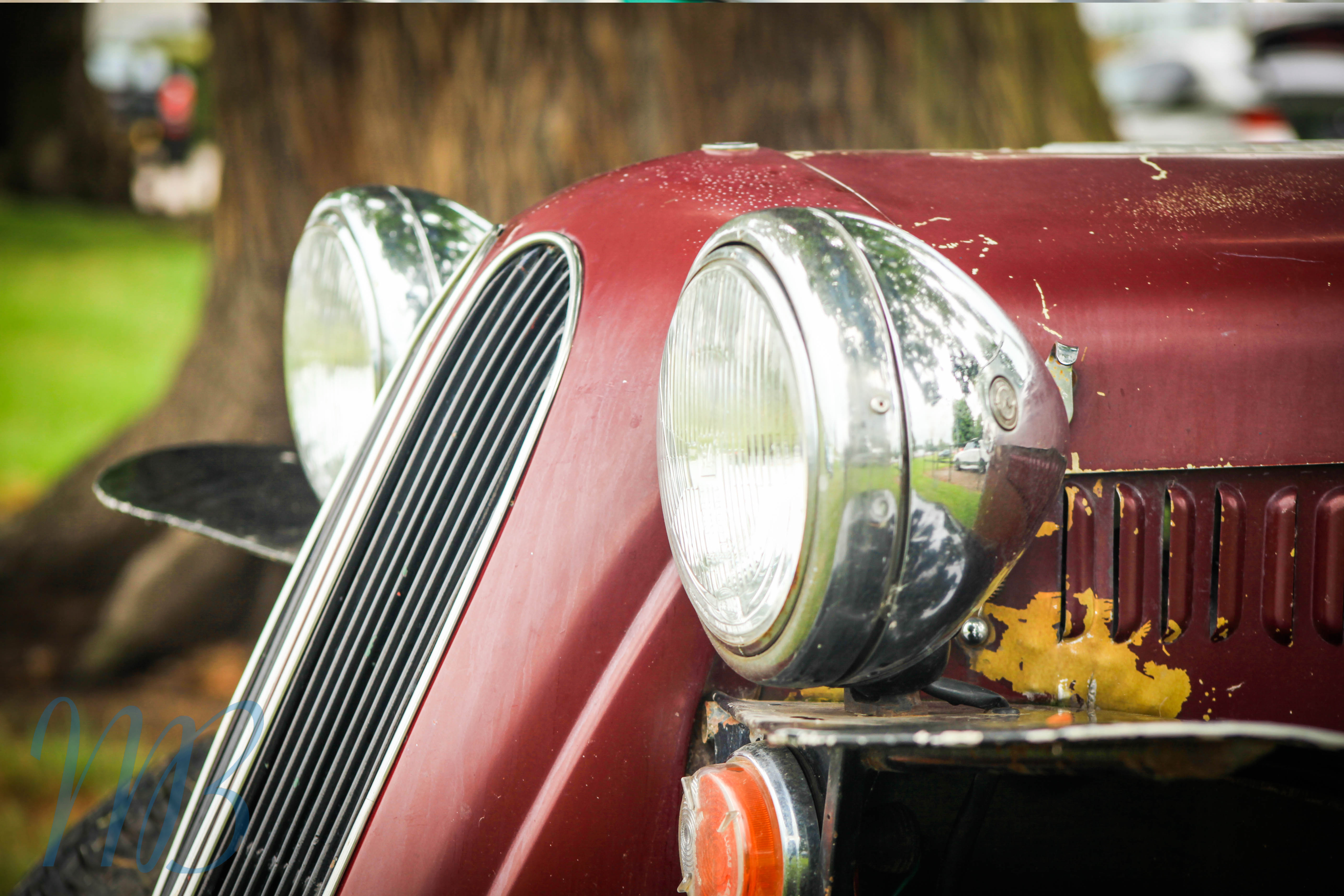 headlights from an old car