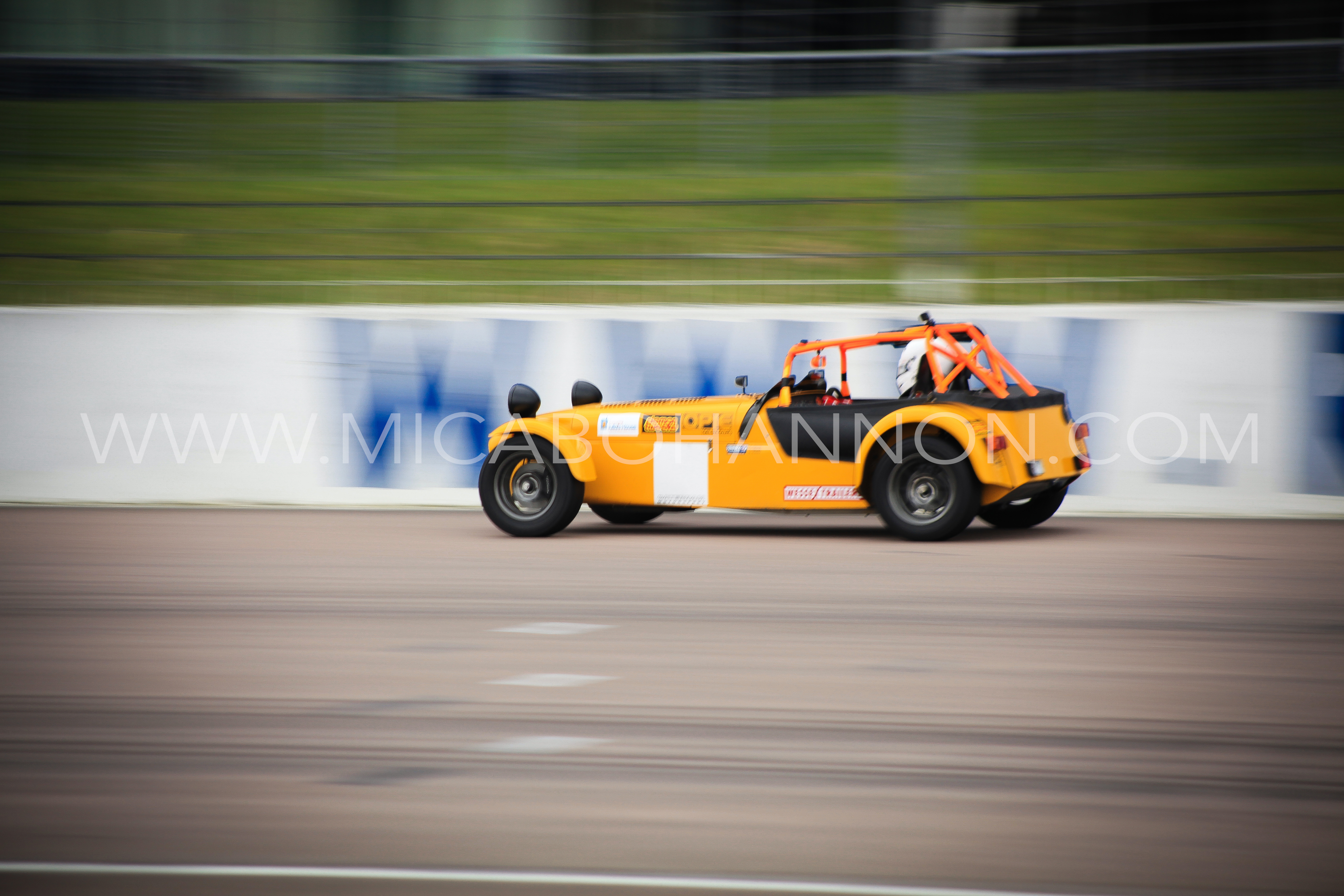 caterham with motion blur
