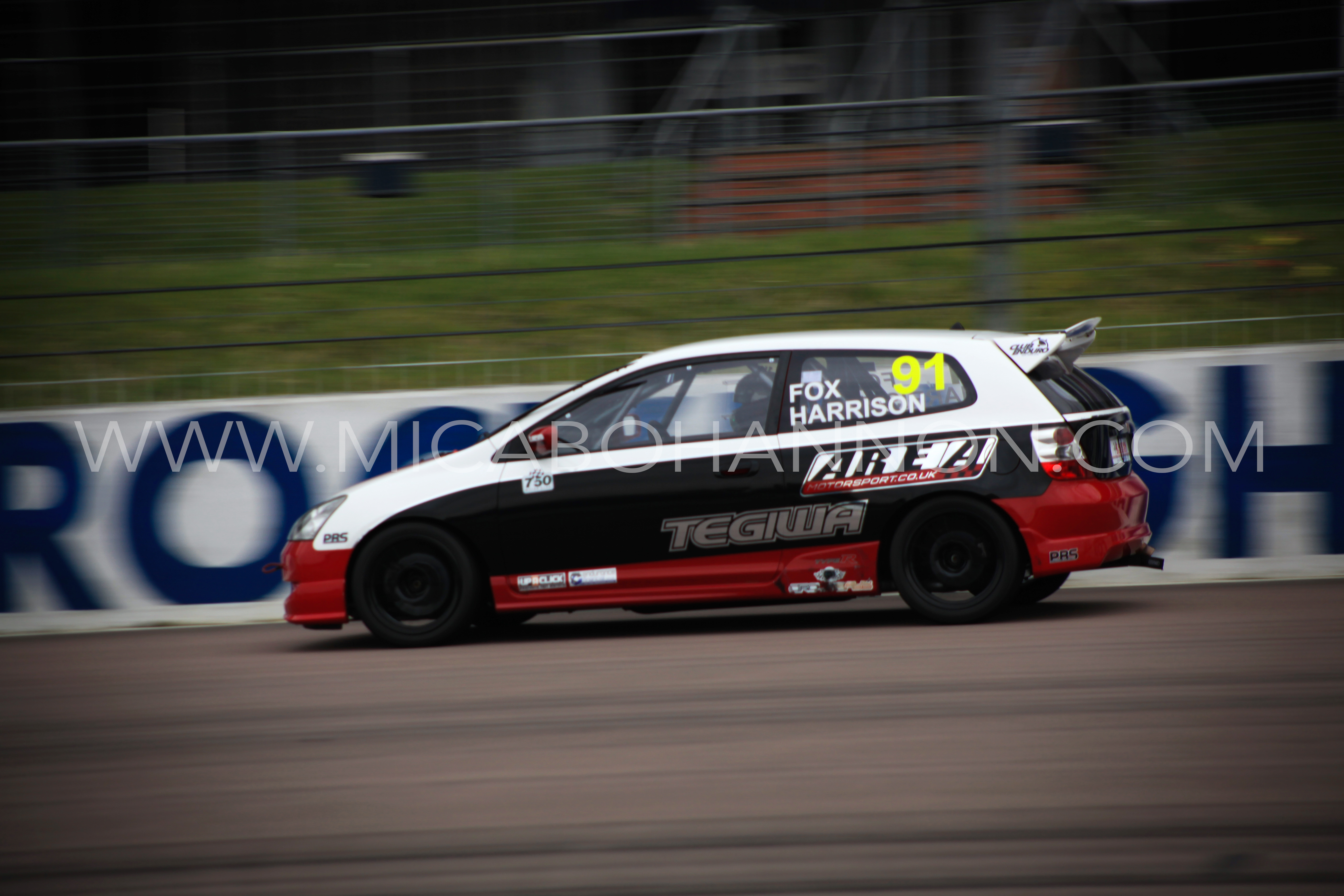 car racing with motion blur
