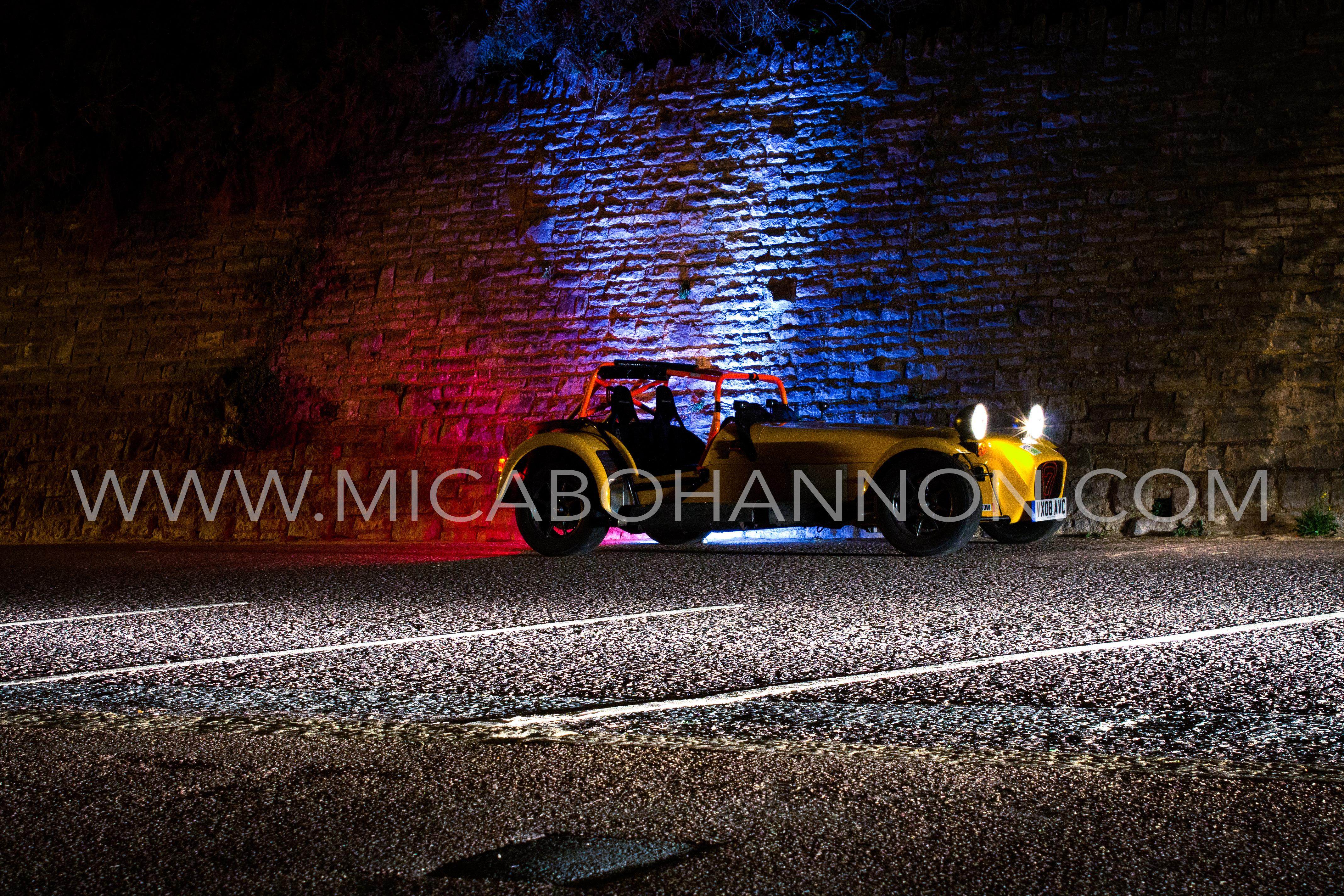 night photography of caterham