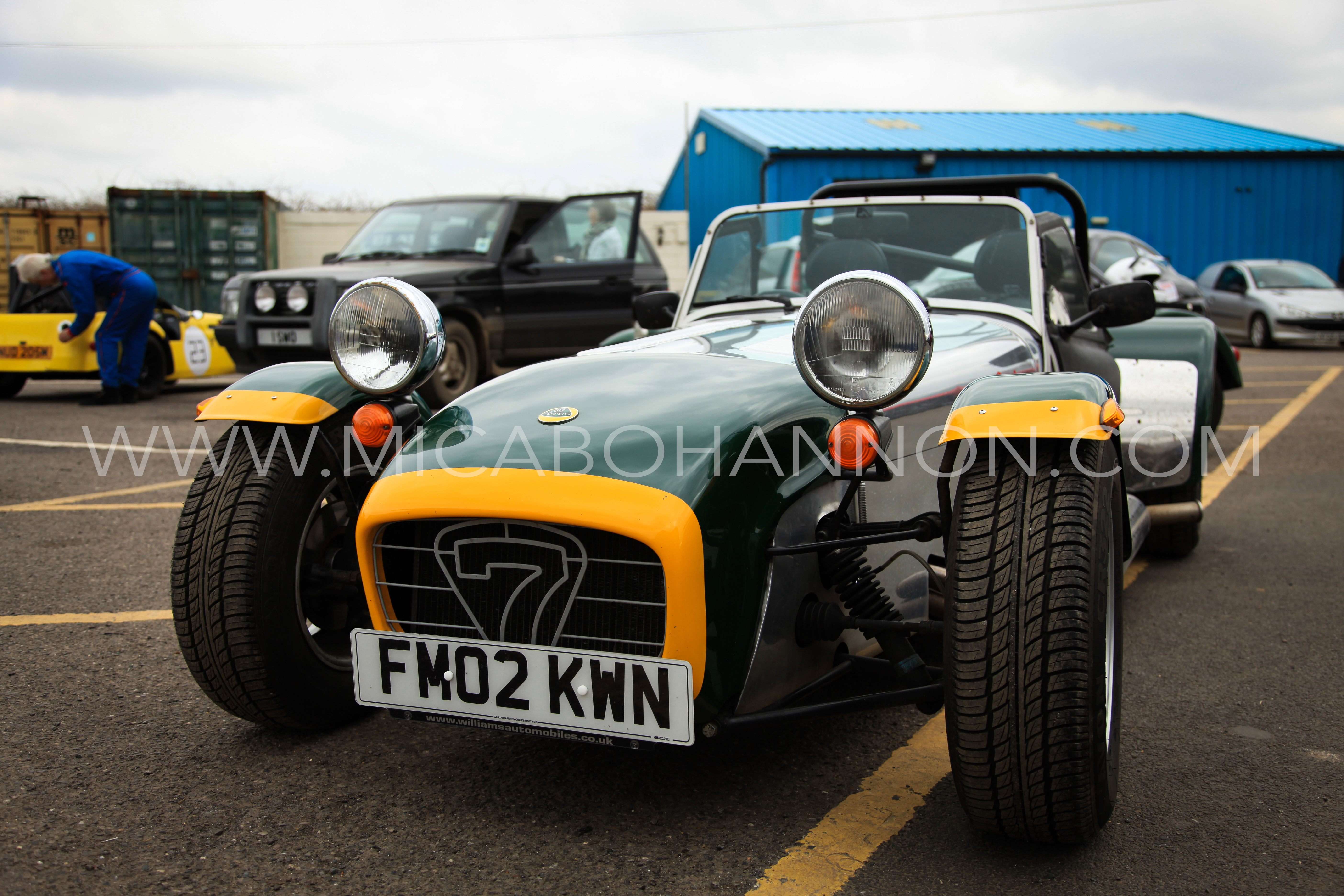 front of green caterham